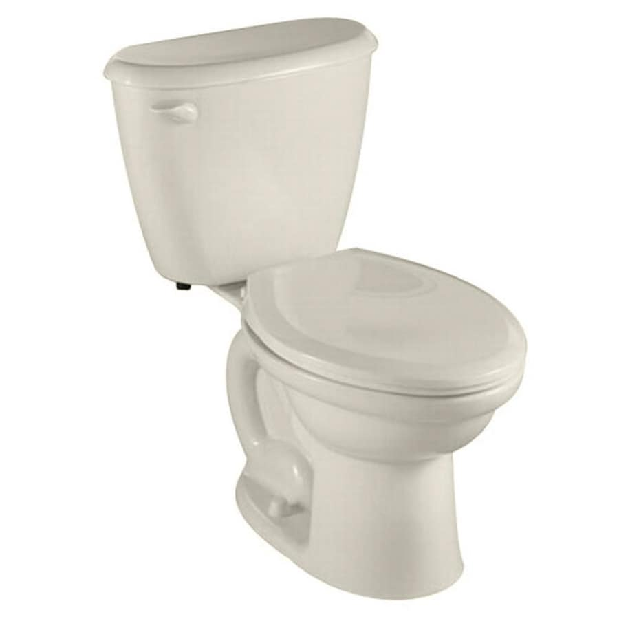 American Standard Colony Linen 1.6-GPF/6.06-LPF 12-in Rough-in Round 2-Piece Standard Height Toilet