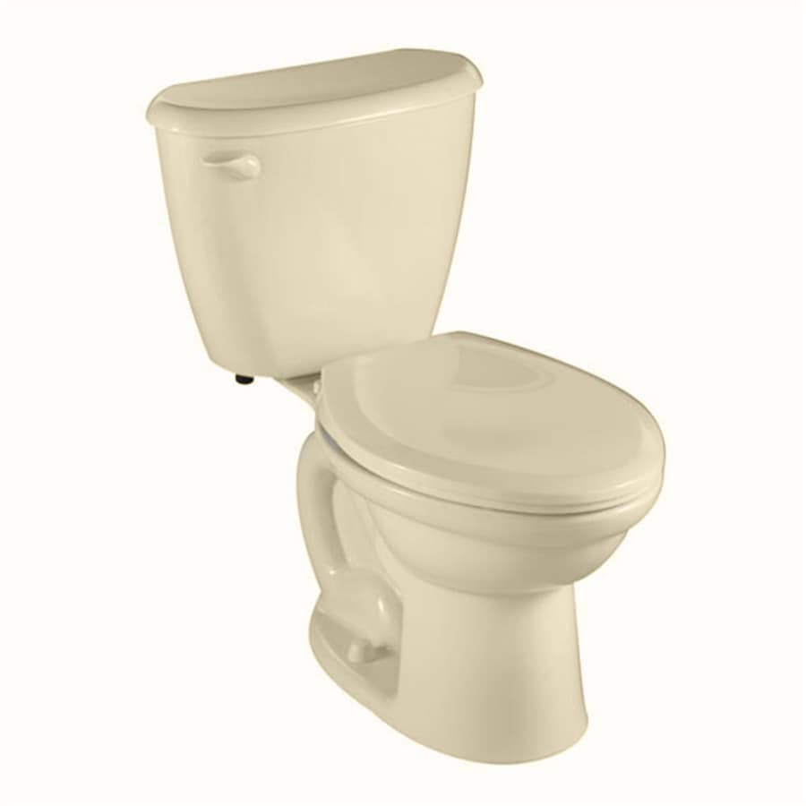 American Standard Colony Bone 1.6-GPF/6.06-LPF 10-in Rough-in Elongated 2-Piece Comfort Height Toilet