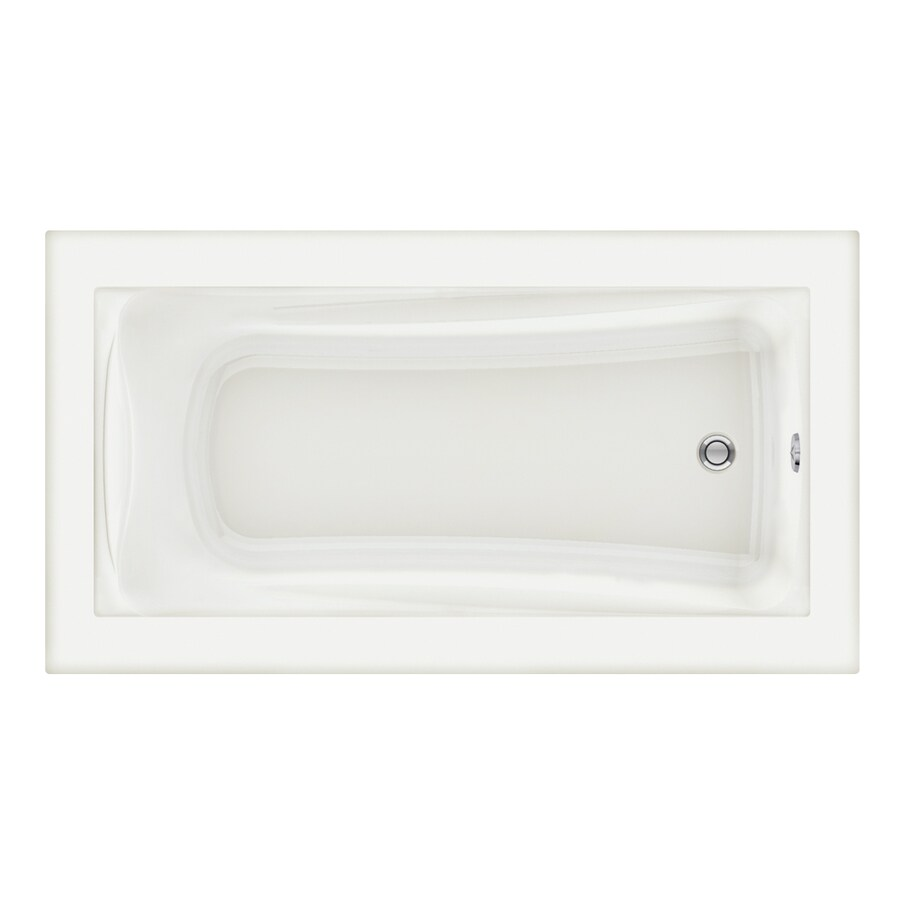 American Standard Green Tea 66-in White Acrylic Drop-In Bathtub with Reversible Drain