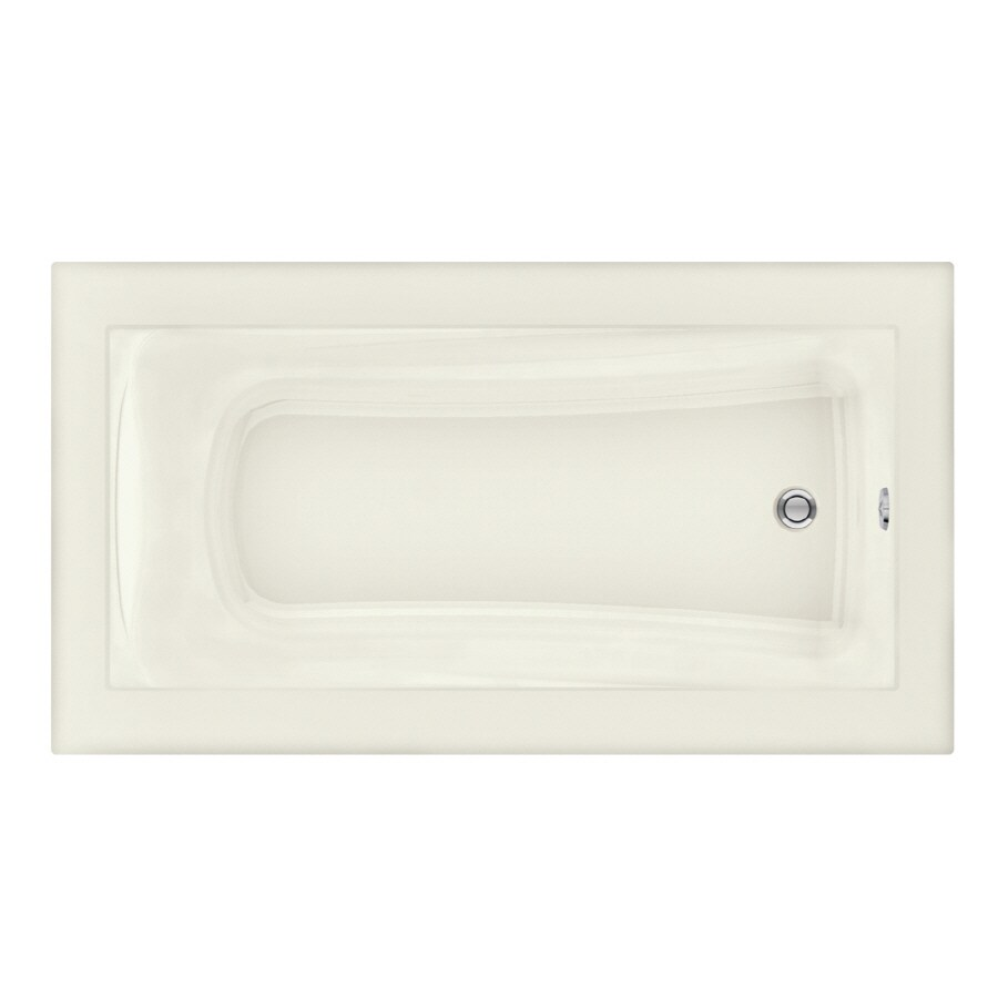 American Standard Green Tea 66-in Linen Acrylic Drop-In Bathtub with Reversible Drain