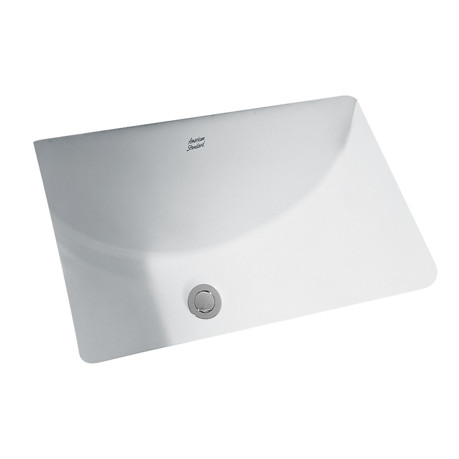 American Standard White Undermount Rectangular Bathroom Sink with Overflow