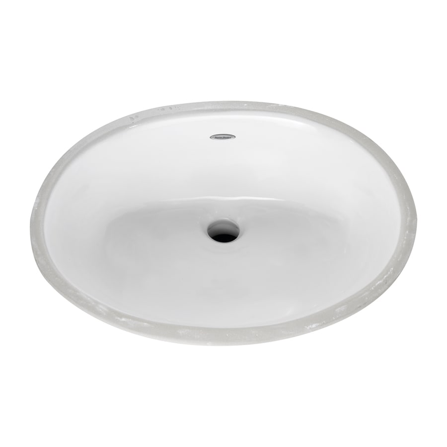 Shop American Standard White Undermount Oval Bathroom Sink