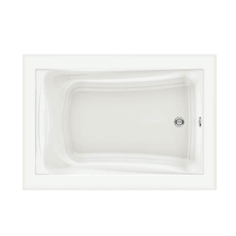 American Standard Green Tea 60-in White Acrylic Bathtub with Reversible Drain
