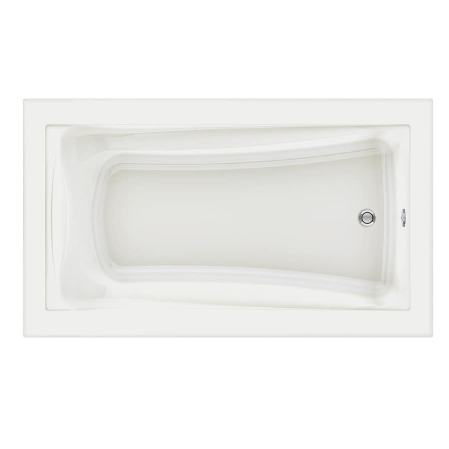 American Standard Green Tea 72-in White Acrylic Drop-In Bathtub with Reversible Drain