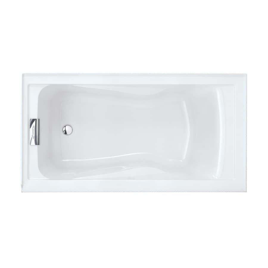 American Standard Evolution Arctic Acrylic Rectangular Skirted Bathtub with Left-Hand Drain (Common: 32-in x 60-in; Actual: 21.5-in x 32-in x 60-in)