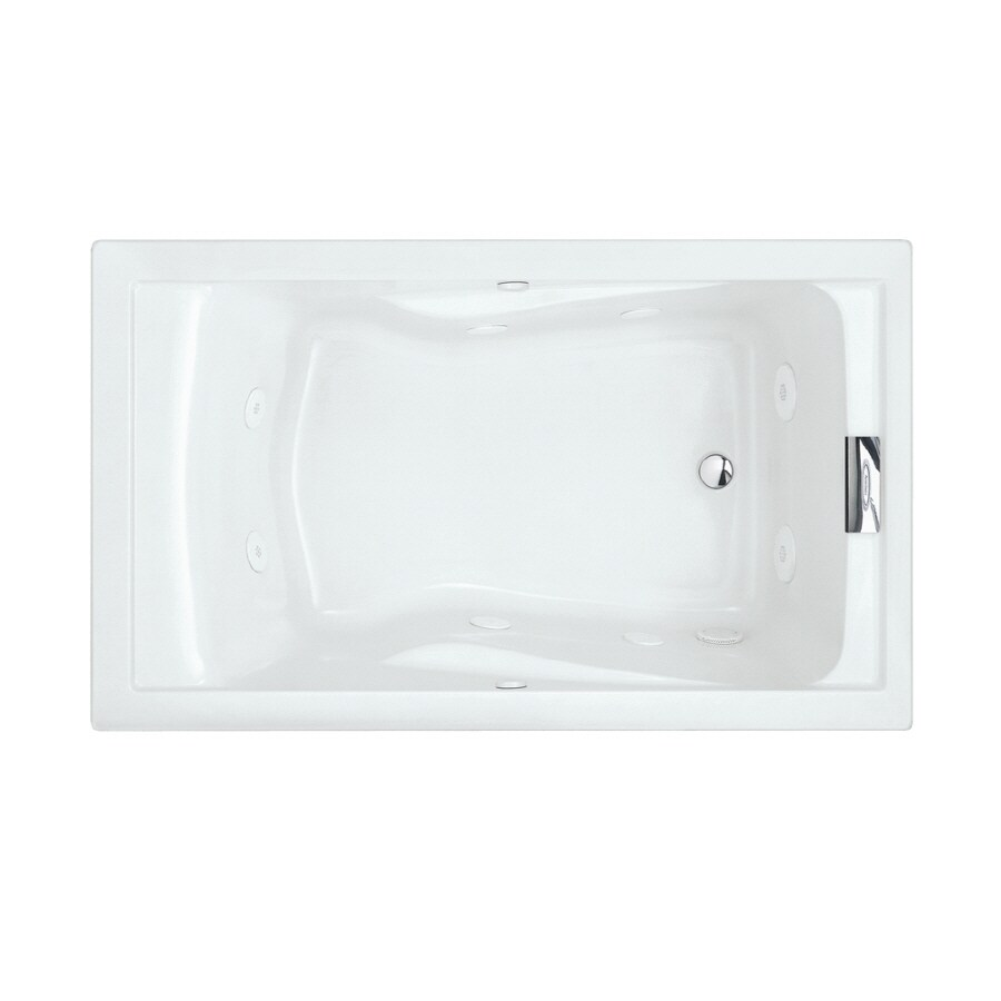 American Standard Evolution 1-Person Arctic Acrylic Rectangular Whirlpool Tub (Common: 36-in x 60-in; Actual: 21.5-in x 36-in x 60-in)