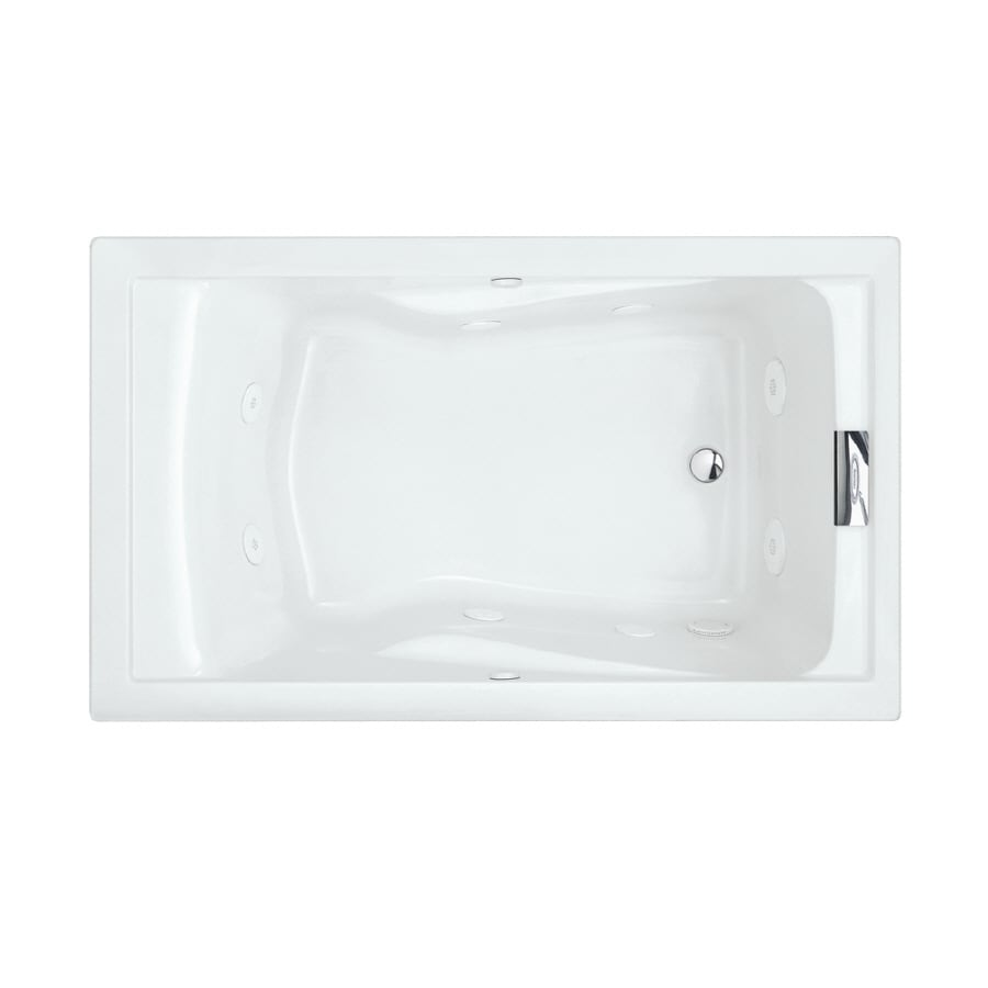 American Standard Evolution Arctic Acrylic Rectangular Whirlpool Tub (Common: 36-in x 60-in; Actual: 21.5-in x 36-in x 60-in)