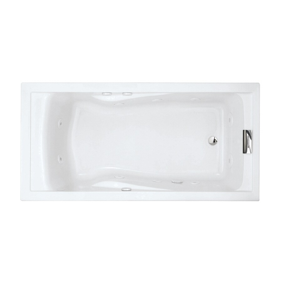 American Standard Evolution 1-Person Arctic Acrylic Rectangular Whirlpool Tub (Common: 36-in x 72-in; Actual: 21.25-in x 36-in x 72-in)