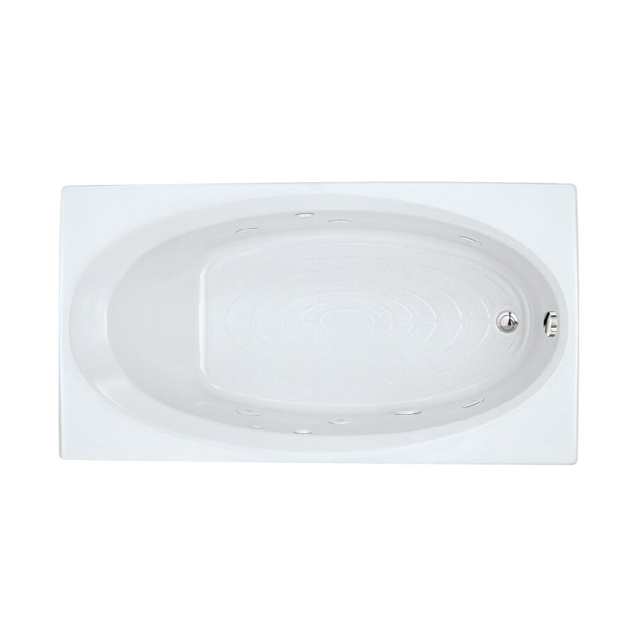 American Standard Evolution 1-Person Arctic Acrylic Oval In Rectangle Whirlpool Tub (Common: 36-in x 66-in; Actual: 19.75-in x 36-in x 66-in)