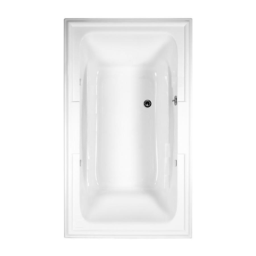 American Standard Town Square Acrylic Rectangular Drop-in Bathtub with Center Drain (Common: 42-in x 72-in; Actual: 22-in x 42-in x 72-in)