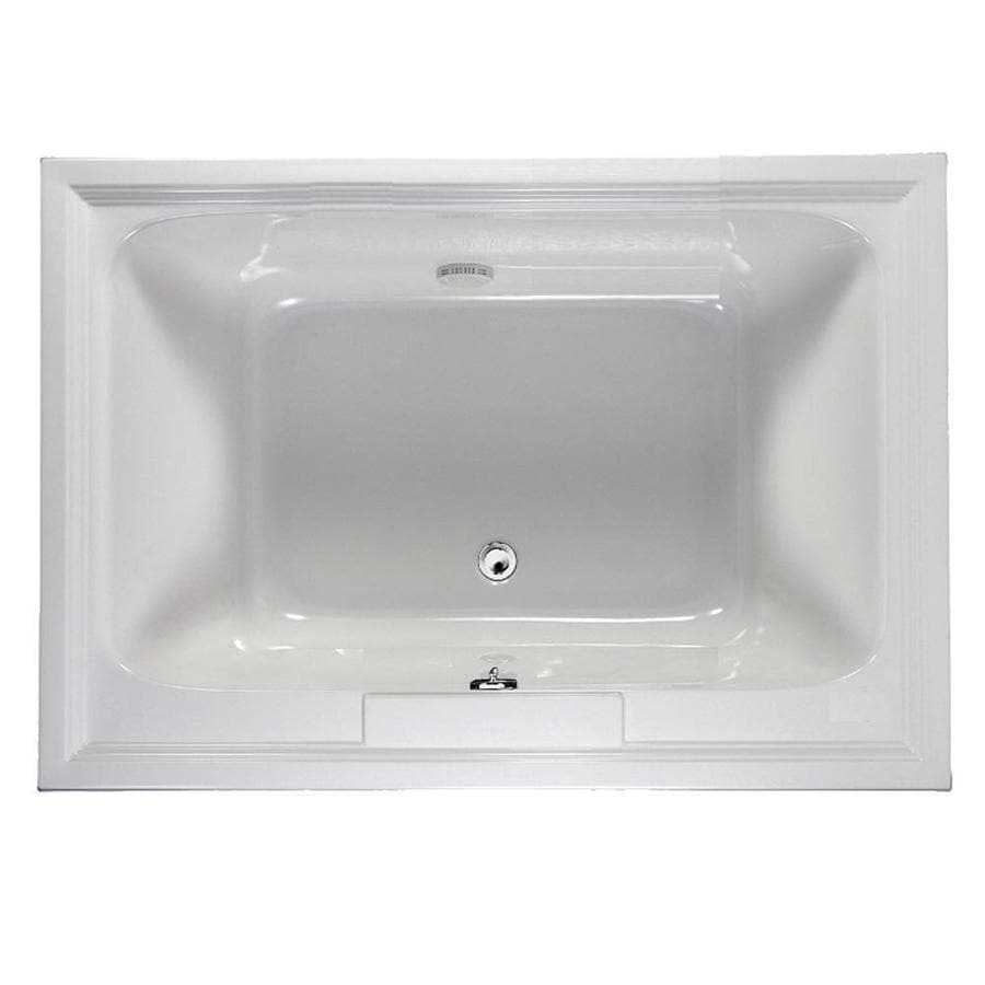 American Standard Town Square 60-in Arctic Acrylic Drop-In Bathtub with Center Drain