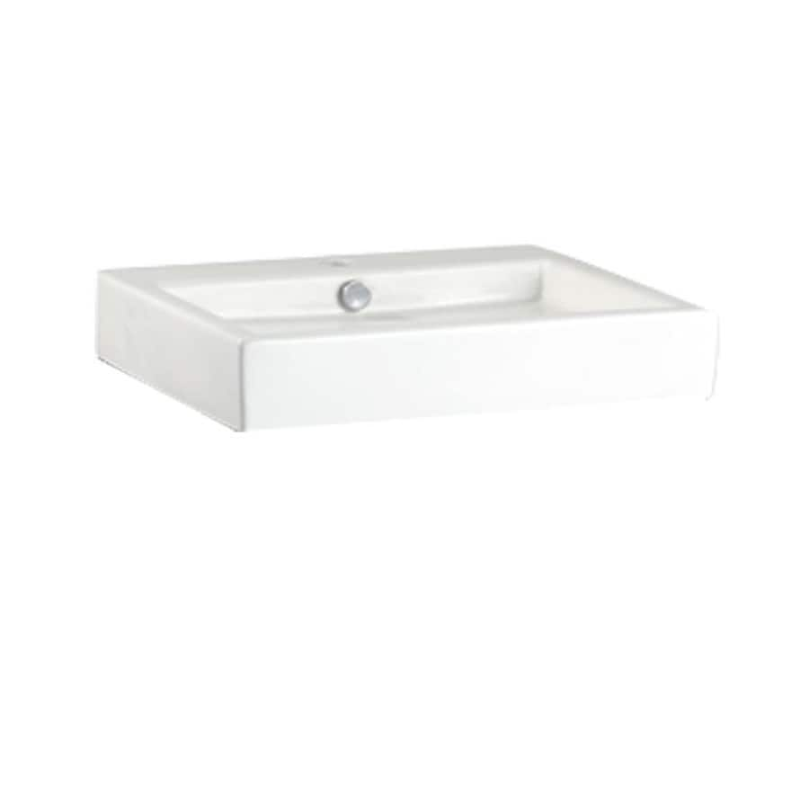 American Standard White Vessel Rectangular Bathroom Sink