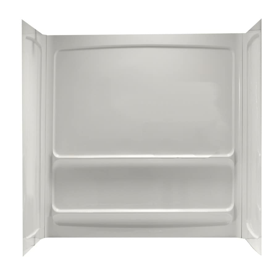 American Standard 30-in W x 60-in L x 60-in H White Shower Wall Surround Side and Back Panel