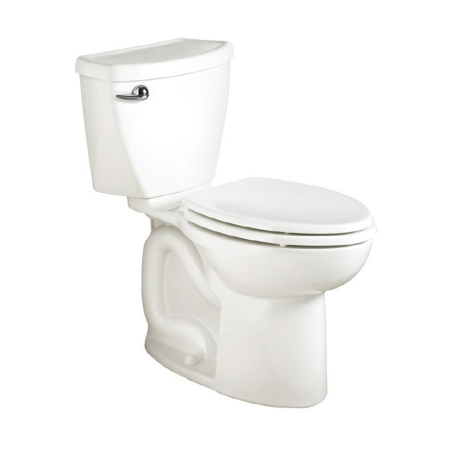 American Standard Cadet 3 FloWise White 1.28 GPF 12-in Rough-In WaterSense Elongated 2-Piece Comfort Height Toilet