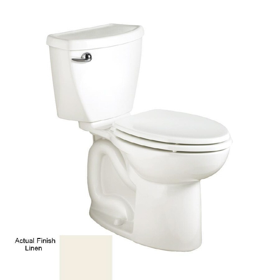 American Standard Cadet 3 FloWise Linen 1.28 GPF 12-in Rough-In WaterSense Elongated 2-Piece Comfort Height Toilet
