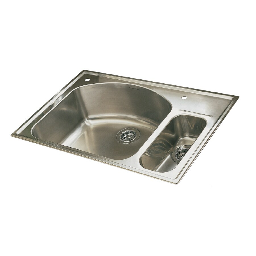 Etonnant American Standard Culinaire 22 In X 33 In Brushed Stainless Steel Double  Basin