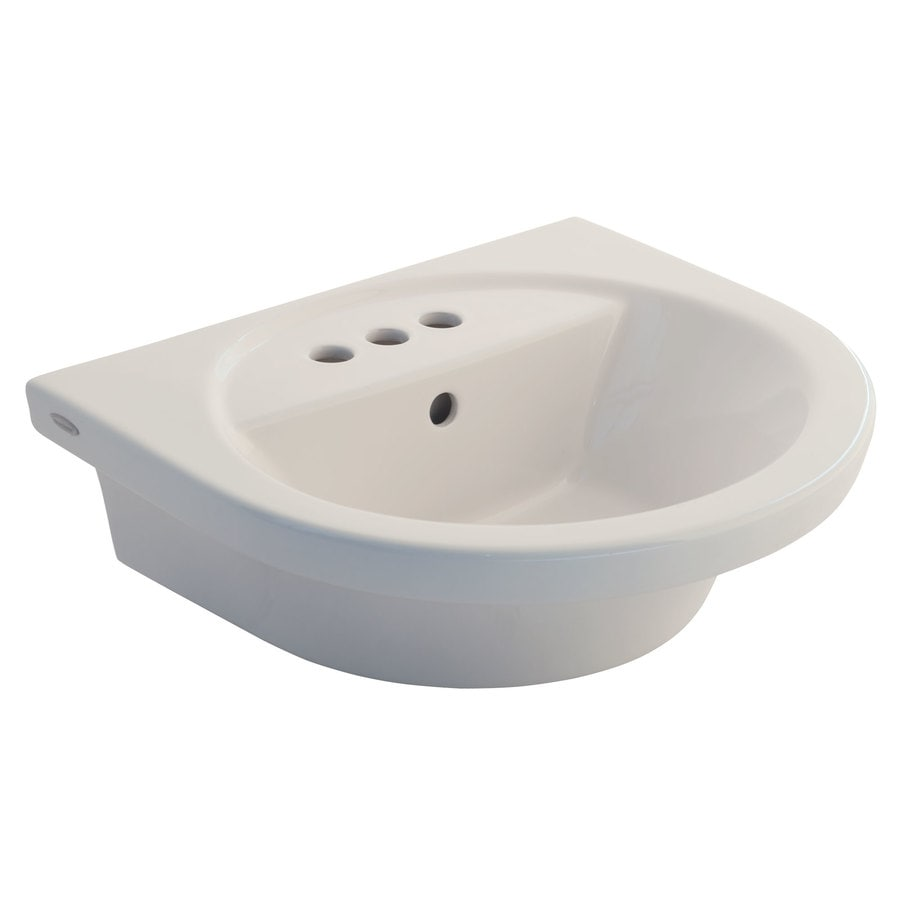 American Standard Tropic 18.5-in L x 21-in W Linen Vitreous China Oval Pedestal Sink Top