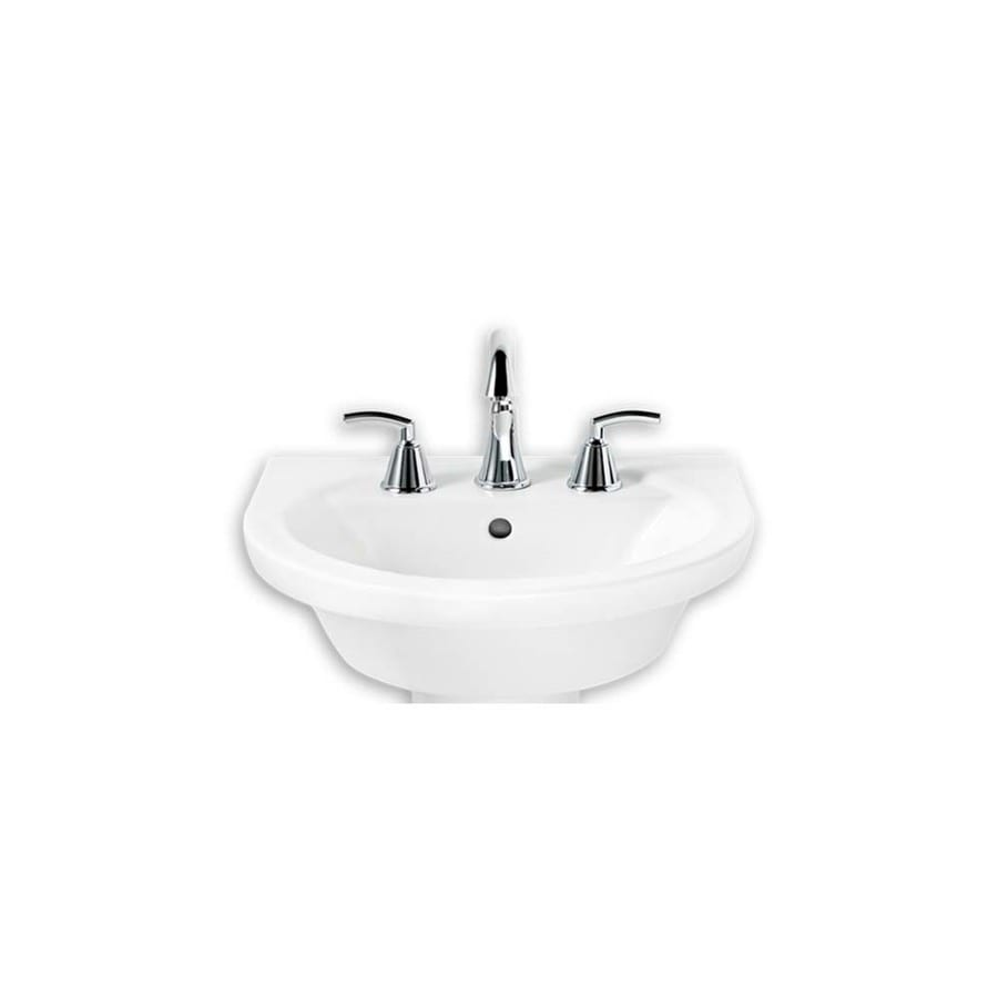 American Standard Tropic 18.5-in L x 21-in W White Vitreous China Oval Pedestal Sink Top