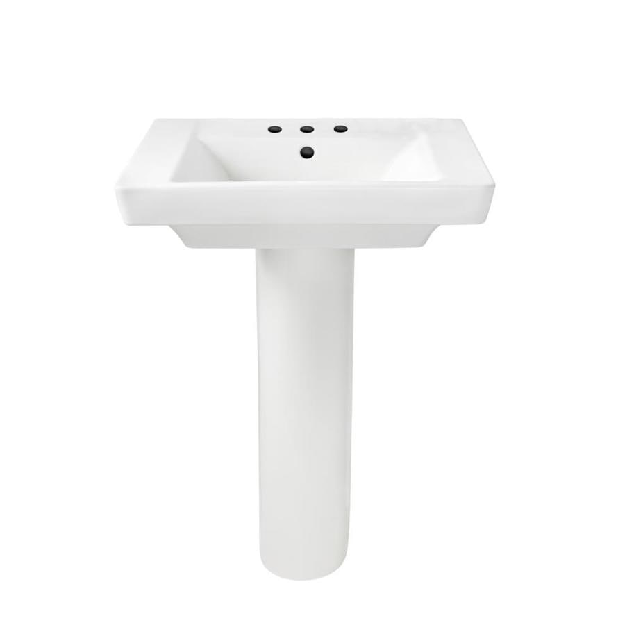 American Standard Boulevard 35.5 In H White Vitreous China Pedestal Sink