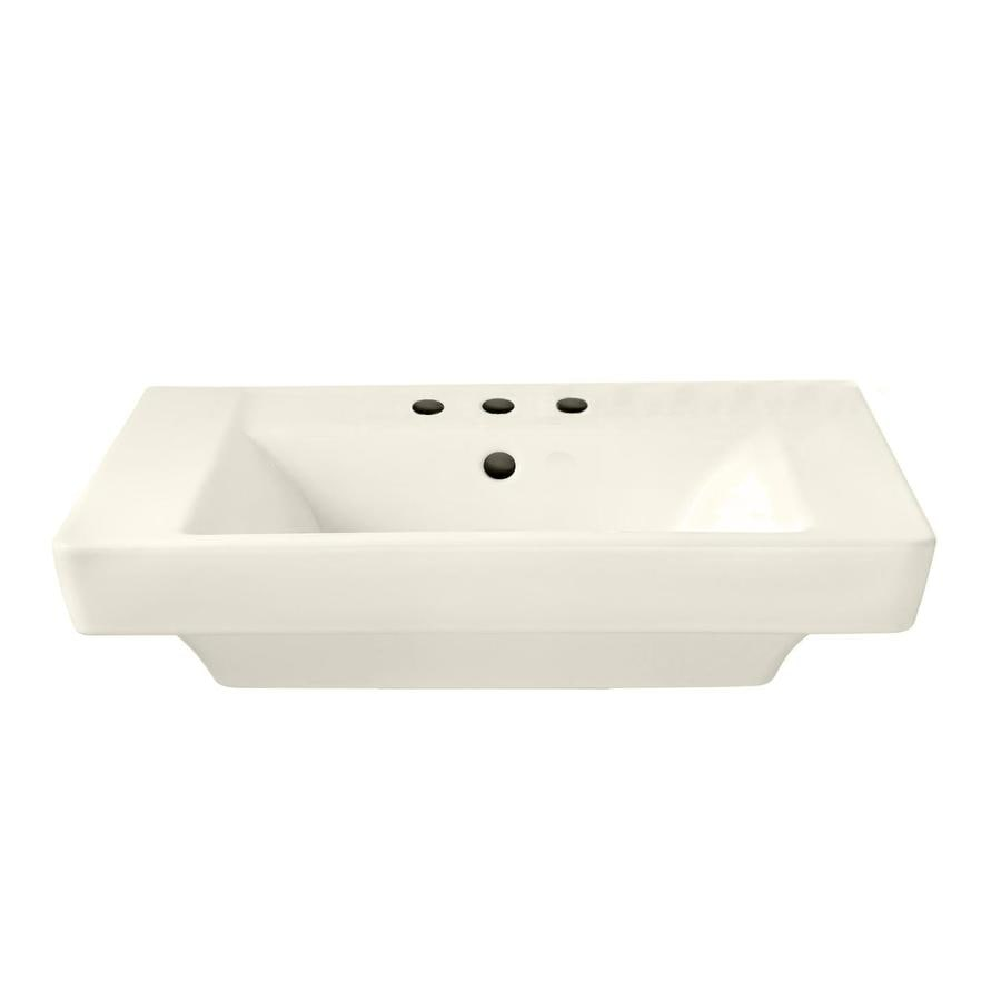 American Standard Boulevard 19-in L x 24-in W Linen Vitreous China Rectangular Pedestal Sink Top