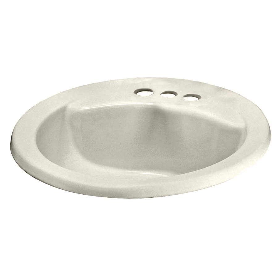 American Standard Linen Drop In Round Bathroom Sink With Overflow