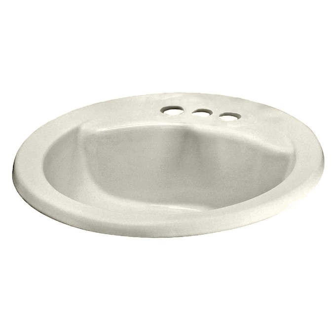 American Standard Linen Drop-In Round Bathroom Sink with ...