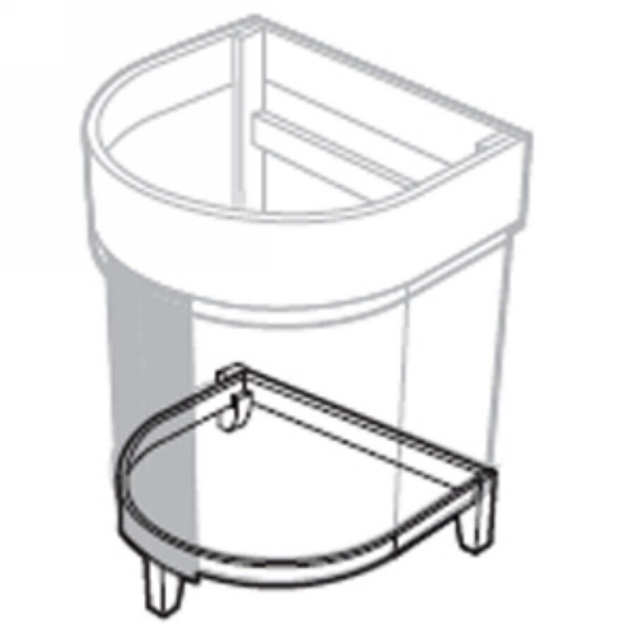 American Standard Tropic 34.375-in H Nutmeg Composite Pedestal Sink Base