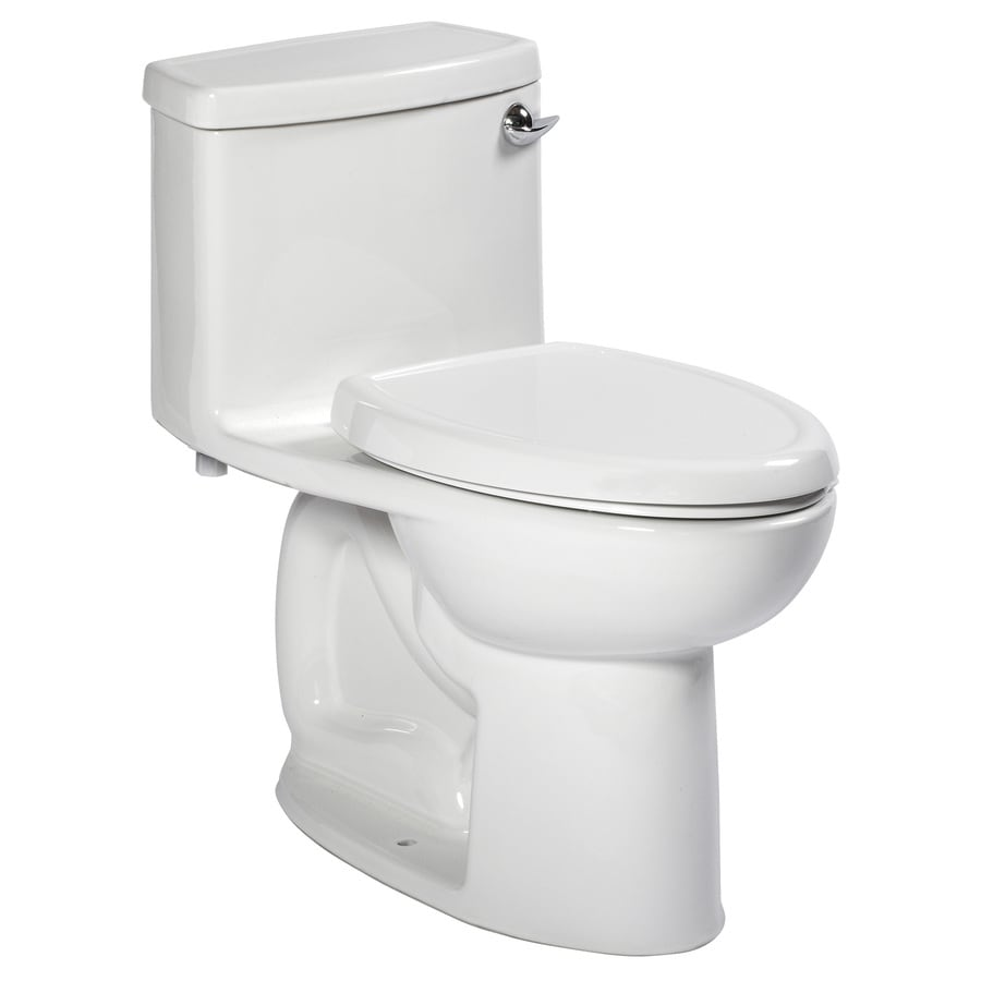 American Standard Cadet 3 1.28-GPF (4.85-LPF) White Elongated Chair Height 1-piece Toilet