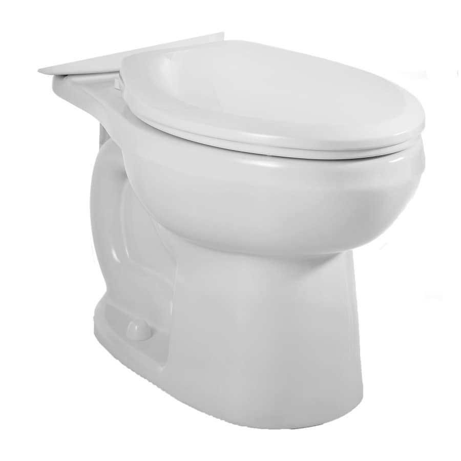 American Standard H2O Option Standard Height White 12-in Rough-In Elongated Toilet Bowl