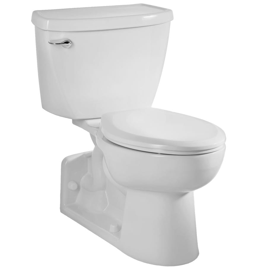 American Standard Yorkville 1.6-GPF White Elongated Standard Height 2-Piece Toilet