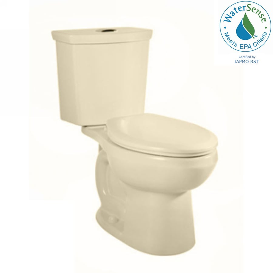 American Standard H2Option Bone 1.28-GPF 12 Rough-In WaterSense Elongated Dual-Flush 2-Piece Chair Height Toilet