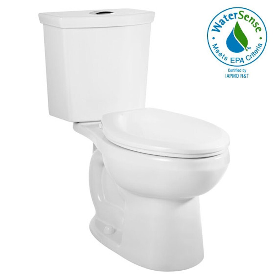 American Standard H2Option White 1.6; 1.1-GPF 12-in Rough-in WaterSense Elongated Dual-Flush 2-Piece Standard Height Toilet