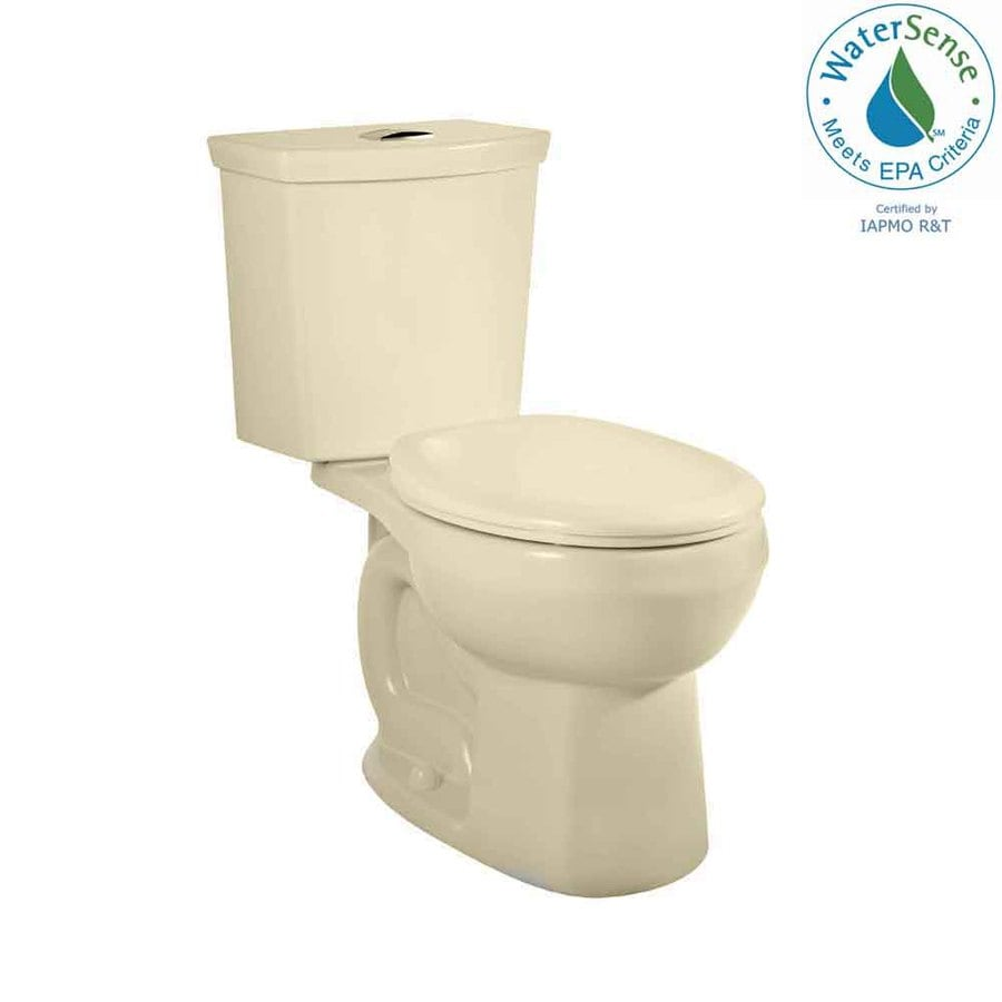 American Standard H2Option 1.28 Bone WaterSense Dual-Flush Round Standard Height 2-Piece Toilet