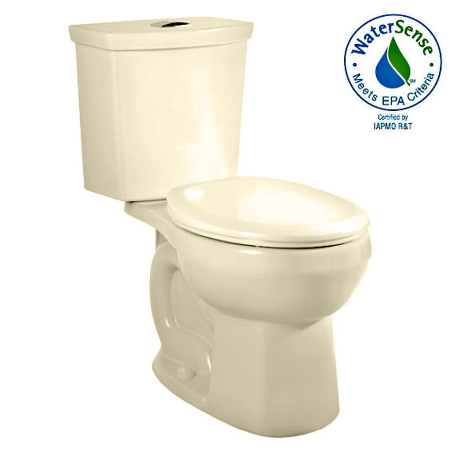 American Standard H2Option Bone 1.6; 1.1-GPF 12-in Rough-In WaterSense Round Dual-Flush 2-Piece Standard Height Toilet