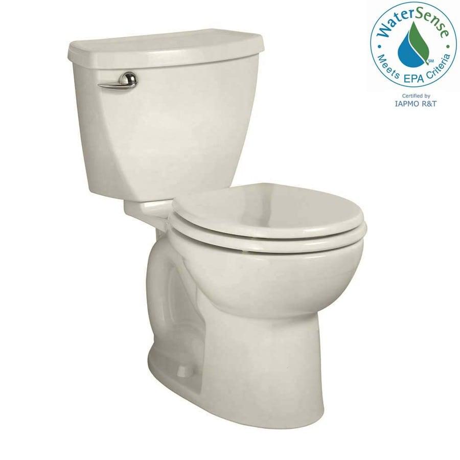 American Standard Cadet 3 Linen 1.28 GPF 10-in Rough-In WaterSense Round 2-Piece Comfort Height Toilet