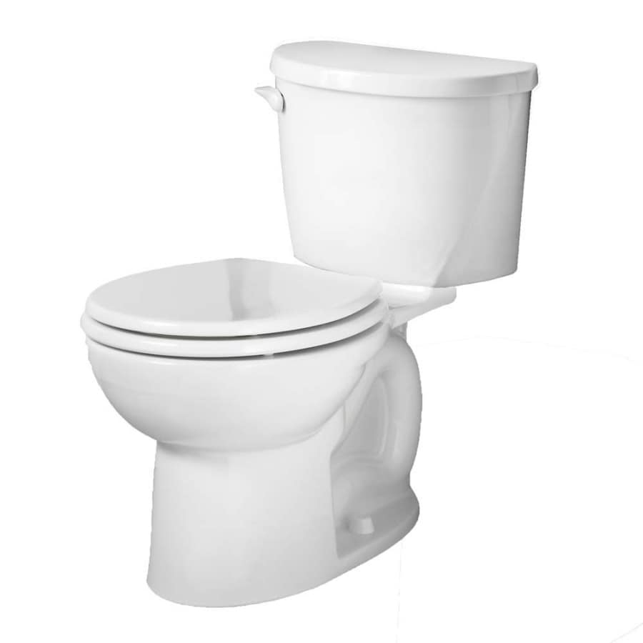 American Standard Evolution White 1.6-GPF/6.06-LPF 12-in Rough-in Round 2-Piece Standard Height Toilet