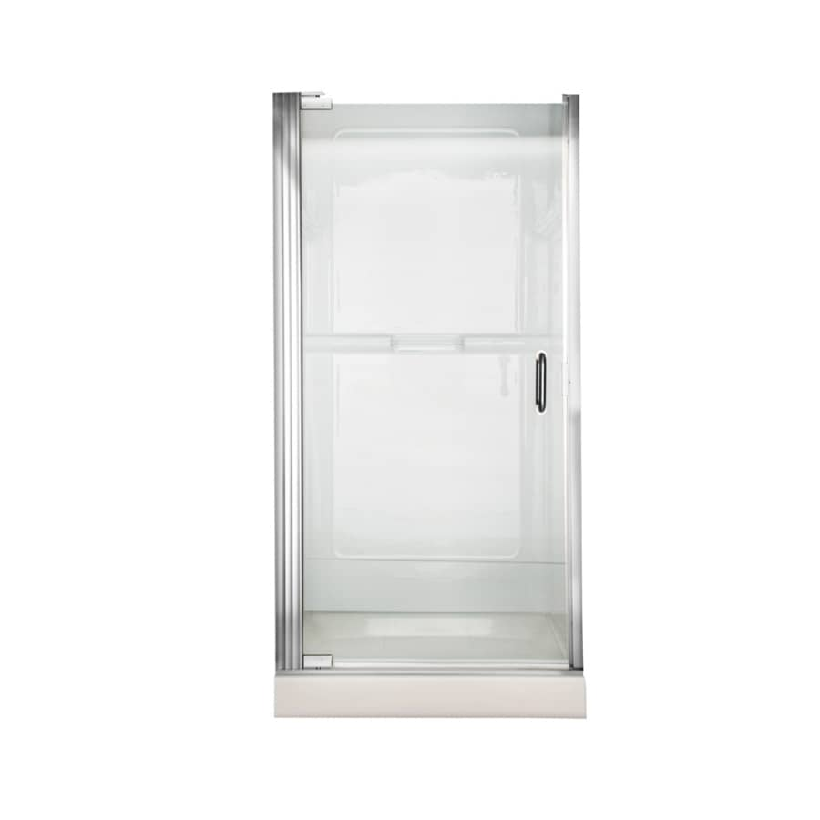 American Standard 24.5625-in to 25.4375-in Silver Frameless Pivot Shower Door