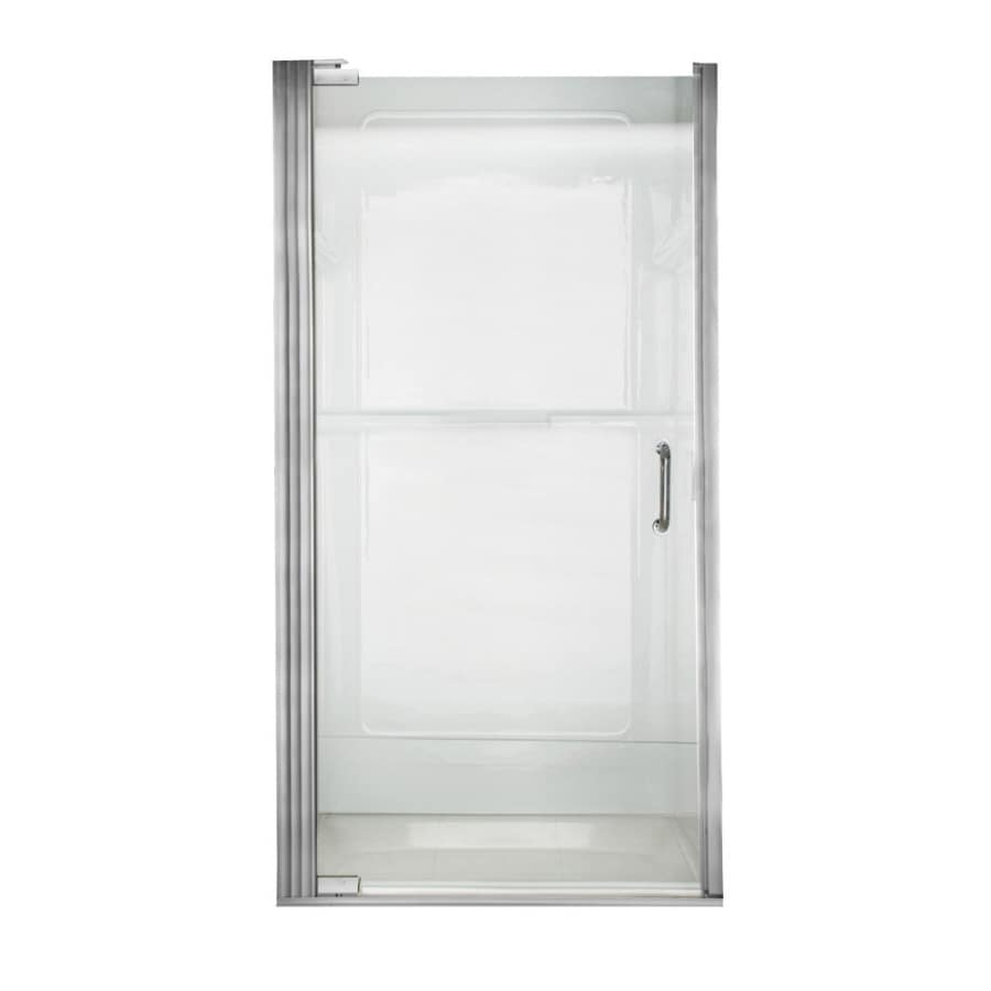 American Standard Euro Frameless Silver Shower Door