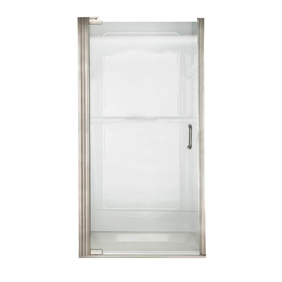 American Standard 31.0625-in to 31.9375-in Brushed Nickel Frameless Pivot Shower Door