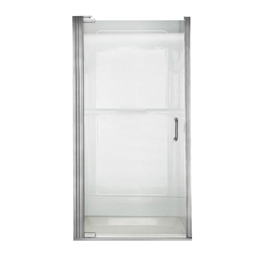 American Standard Euro Frameless Silver Shower Door