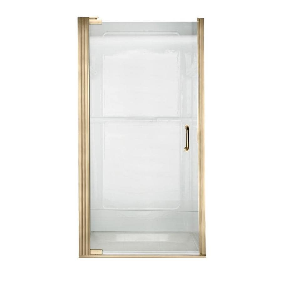 American Standard Euro Frameless Polished Brass Shower Door