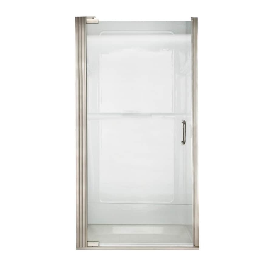 American Standard Euro 34.1875-in to 35.0625-in Polished Nickel Frameless Pivot Shower Door
