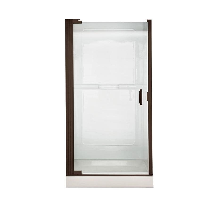 American Standard Euro 35.1875-in to 36.0625-in Oil-Rubbed Bronze Frameless Hinged Shower Door