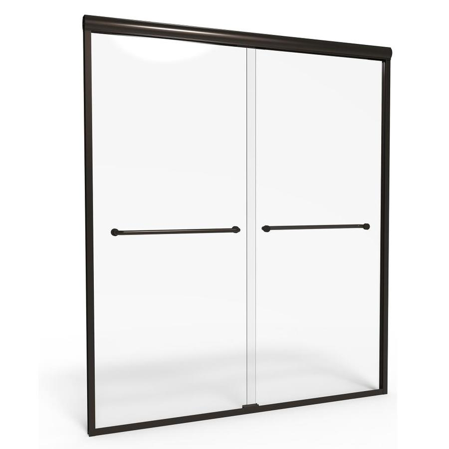American Standard Euro 40-in to 44-in Frameless Sliding Shower Door