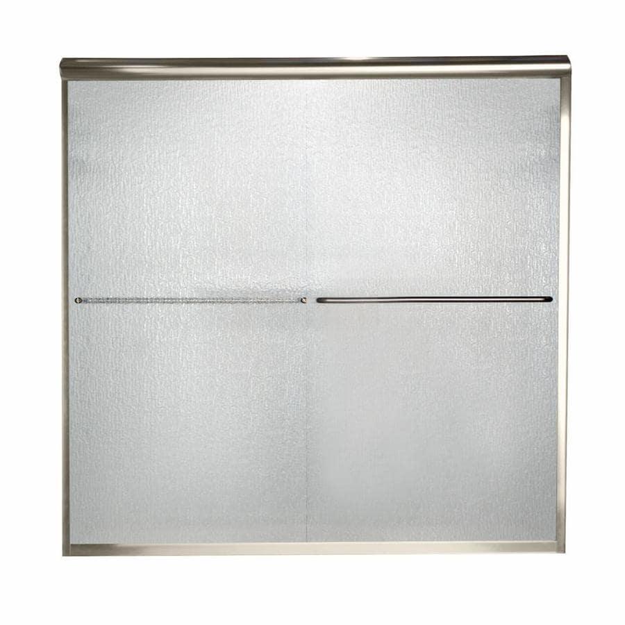 American Standard Euro 60-in W x 57-in H Frameless Bathtub Door