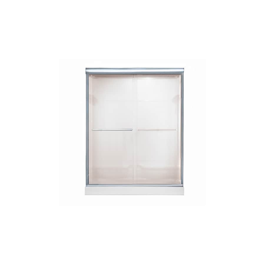 American Standard Euro 44-in to 48-in W x 70-in H Silver Sliding Shower Door
