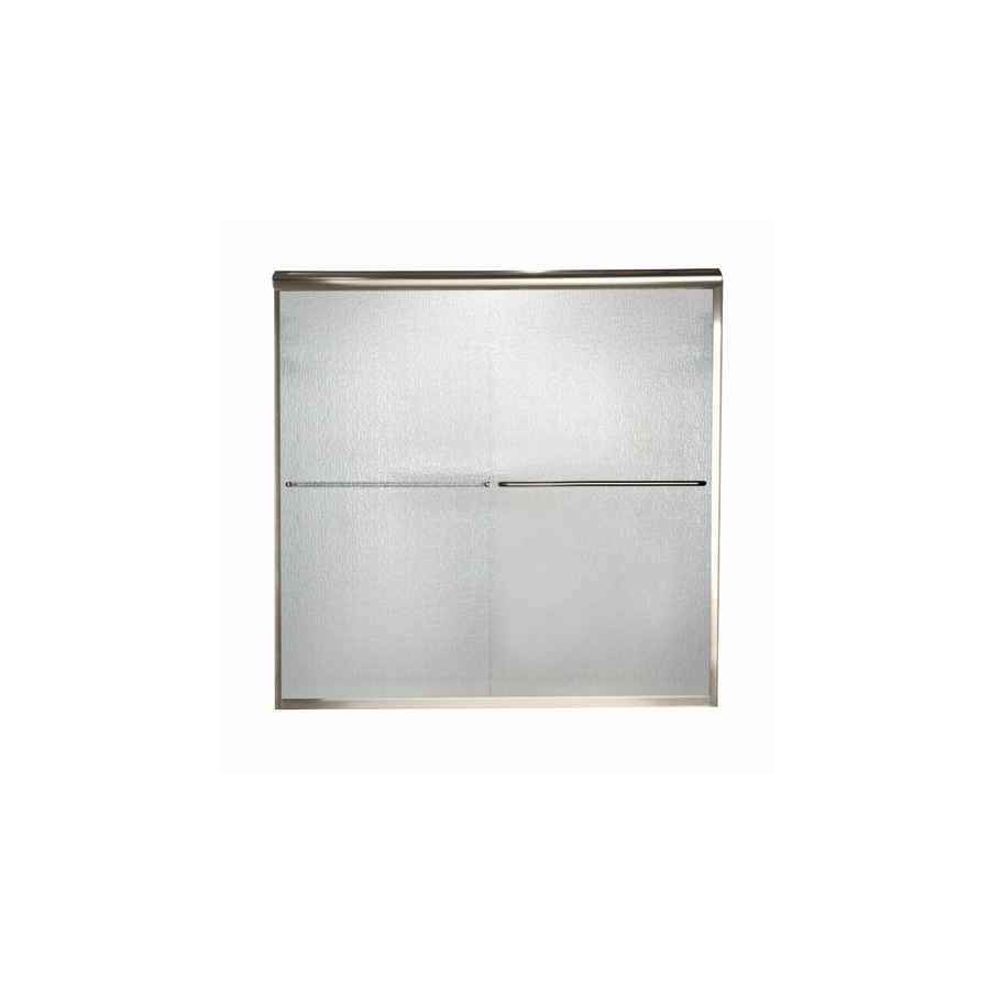 American Standard Euro 56-in to 60-in W x 70-in H Polished Nickel Sliding Shower Door