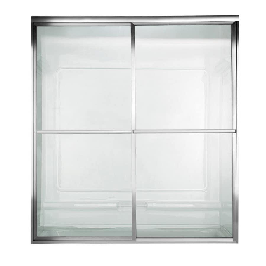 American Standard Prestige 56-in W x 56-in H Silver Bathtub Door