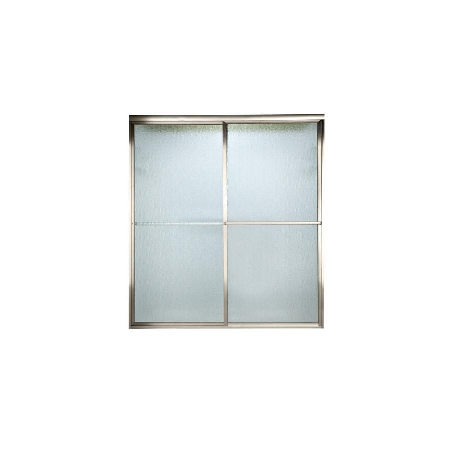 American Standard Prestige 52-in to 54-in W x 68-in H Brushed Nickel Sliding Shower Door