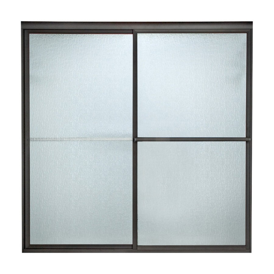 American Standard Prestige 52-in to 54-in W x 68-in H Oil-Rubbed Bronze Sliding Shower Door